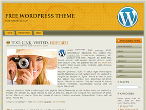 "Free WordPress Themes ""WA01 orange braun"""