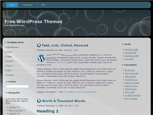 "Free WordPress Themes ""WA02 blaue Kreise"""