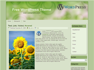 "Free WordPress Themes ""Natur"""
