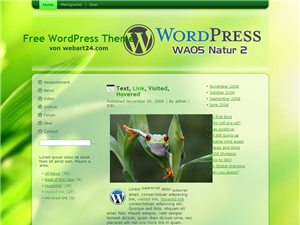 "Free WordPress Themes ""Natur 2"""