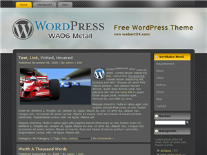 "Free WordPress Themes ""Metall"""