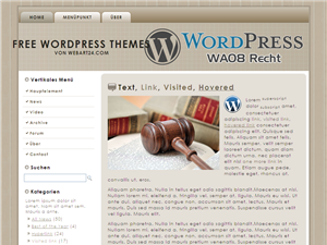 "Free WordPress Themes ""Recht"""